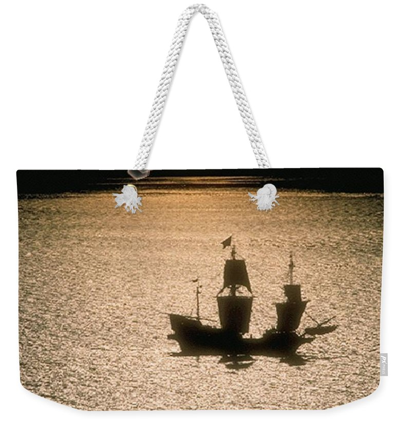 Sail Weekender Tote Bag featuring the photograph Night Sail by Tim Allen