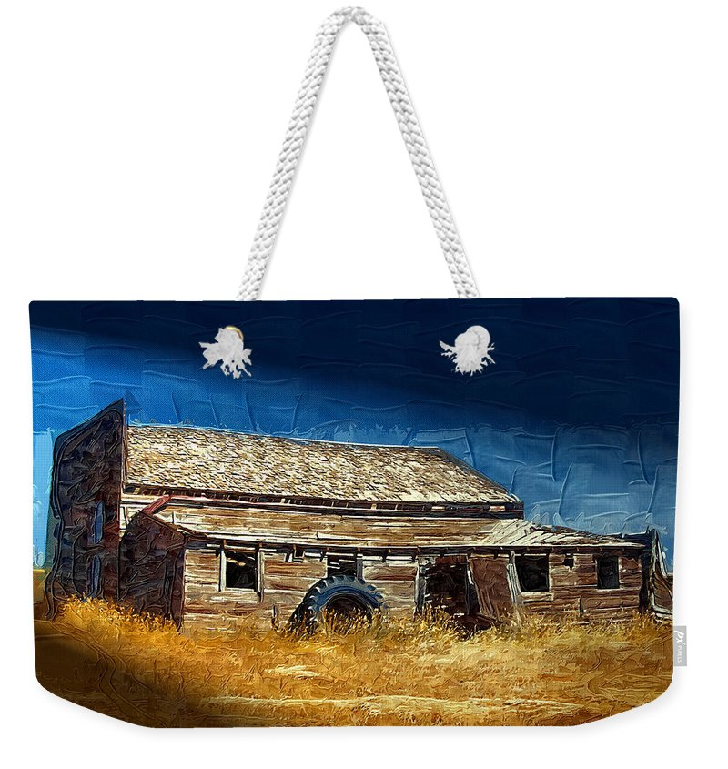 Window Weekender Tote Bag featuring the photograph Night Shift by Susan Kinney