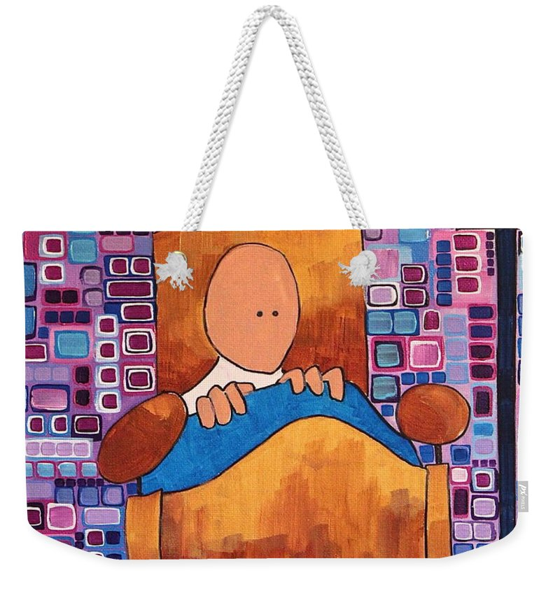 Abstract Weekender Tote Bag featuring the painting Night Terror by Donna Howard