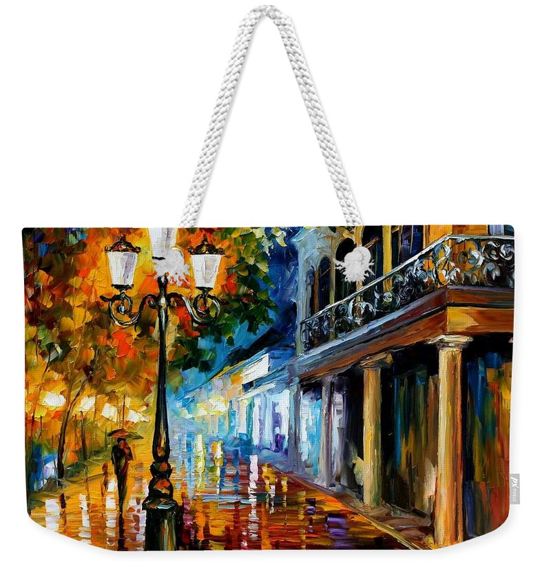 Afremov Weekender Tote Bag featuring the painting Night Transformation by Leonid Afremov