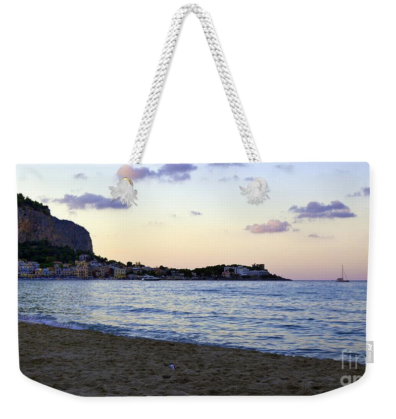 Nightfall Weekender Tote Bag featuring the photograph Nightfalls Over The Mediterranean by Madeline Ellis