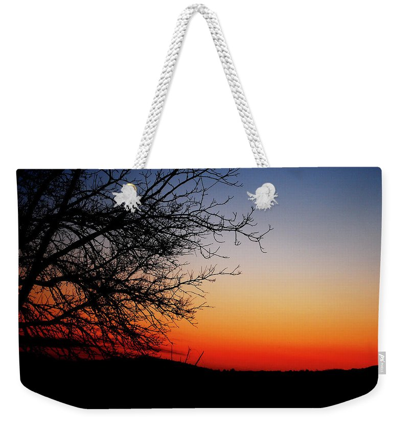 Sunset Weekender Tote Bag featuring the photograph Nights Beauty by Lori Tambakis