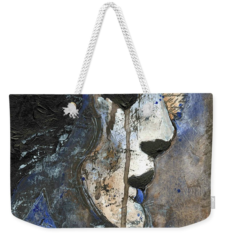 Woman Weekender Tote Bag featuring the painting Night's Poem by Callan Art