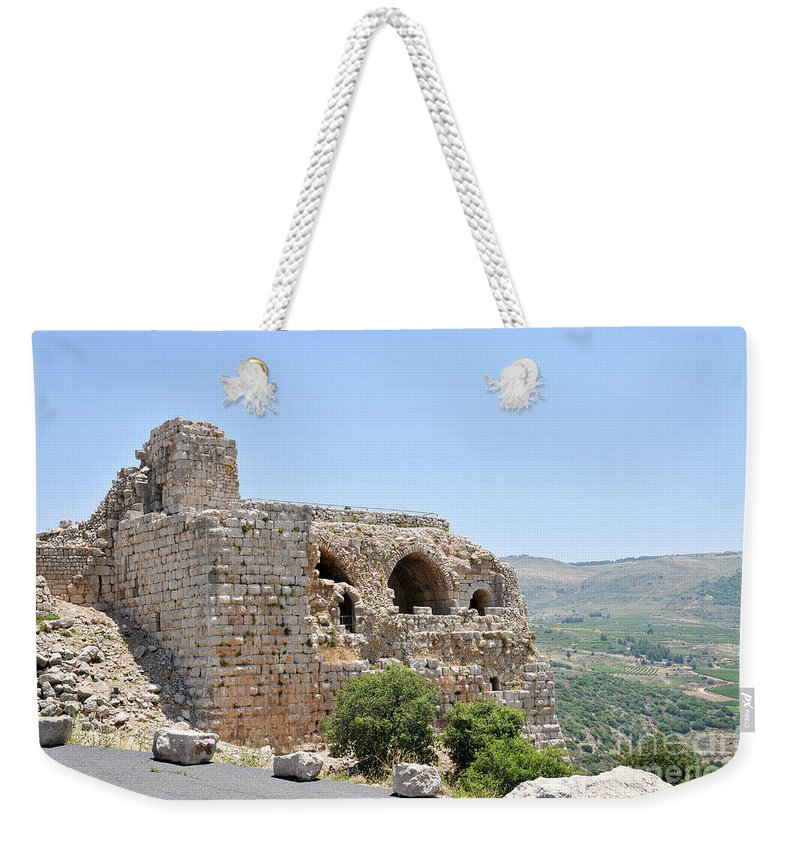 Nimrod Weekender Tote Bag featuring the photograph Nimrod Fortress National Park by Shay Levy
