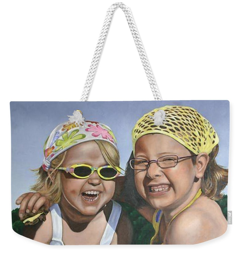 Portrait Weekender Tote Bag featuring the painting Nina And Francis by Rob De Vries