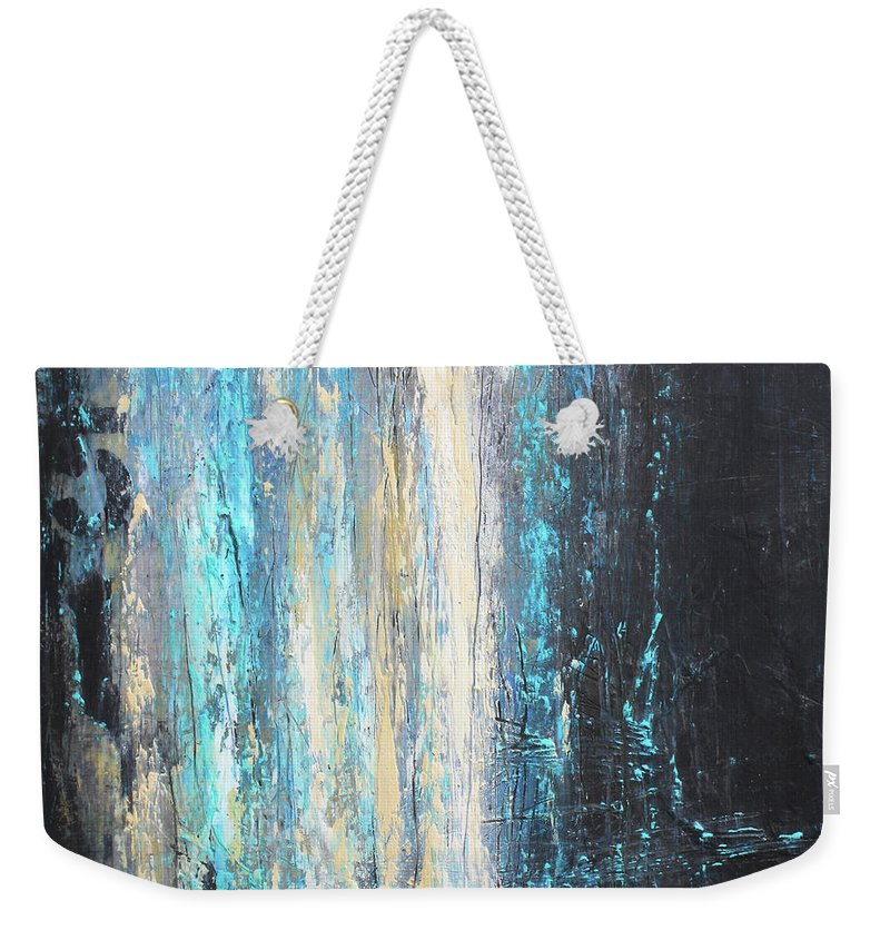 Urban Art Weekender Tote Bag featuring the mixed media No. 851 by Patricia Lintner