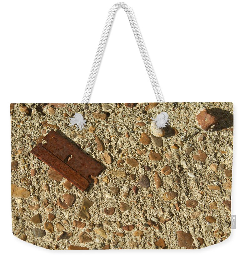 Razor Weekender Tote Bag featuring the photograph No Blade Of Grass by Douglas Barnett