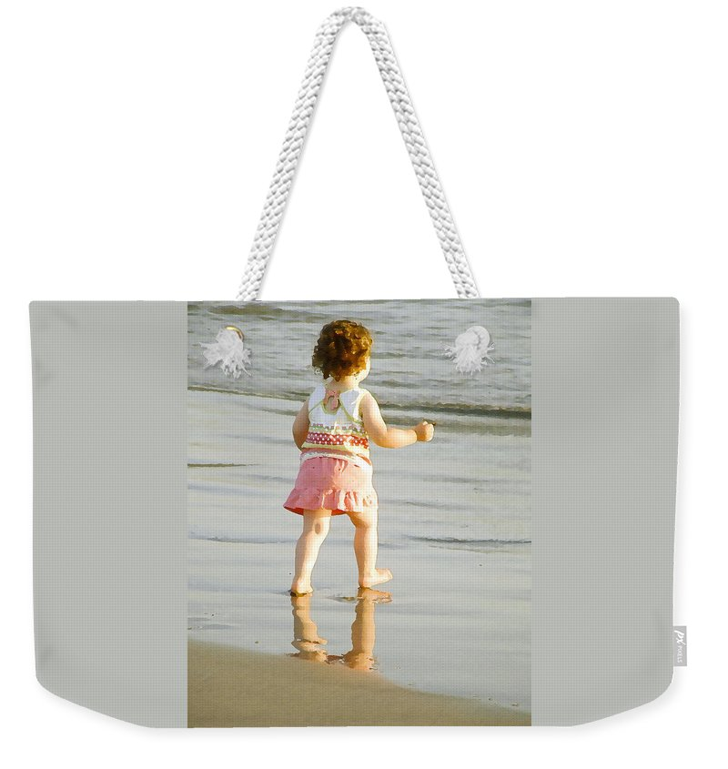 Beach Weekender Tote Bag featuring the photograph No Fear by Margie Wildblood