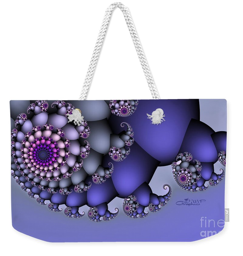Fractal Weekender Tote Bag featuring the digital art No Ground Underfoot by Jutta Maria Pusl