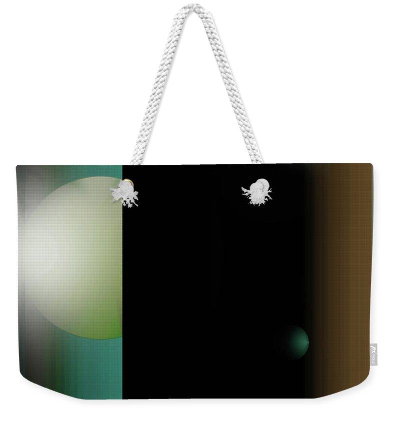 Abstract Weekender Tote Bag featuring the digital art No by John Krakora