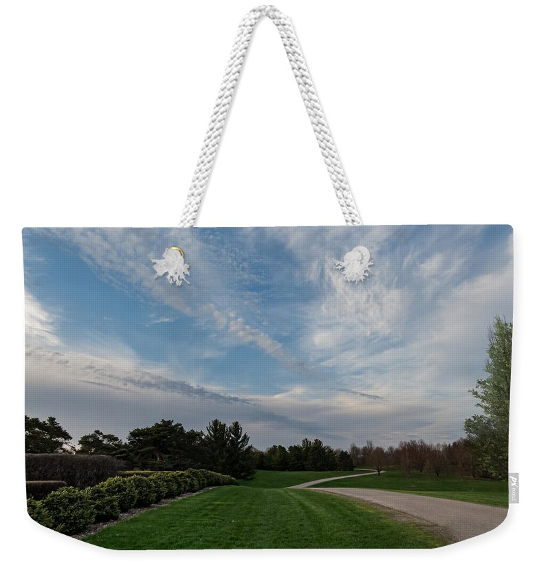 Pathway Weekender Tote Bag featuring the photograph Pathway To The Sky by Patti Deters