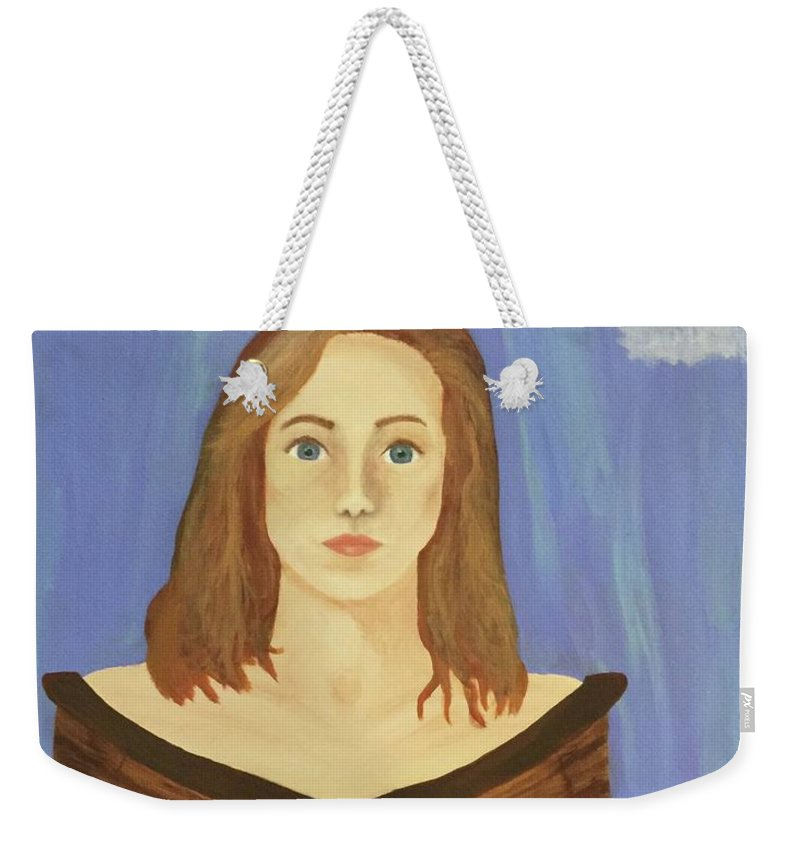 Girl Weekender Tote Bag featuring the painting No Paddles by Marcy Allen
