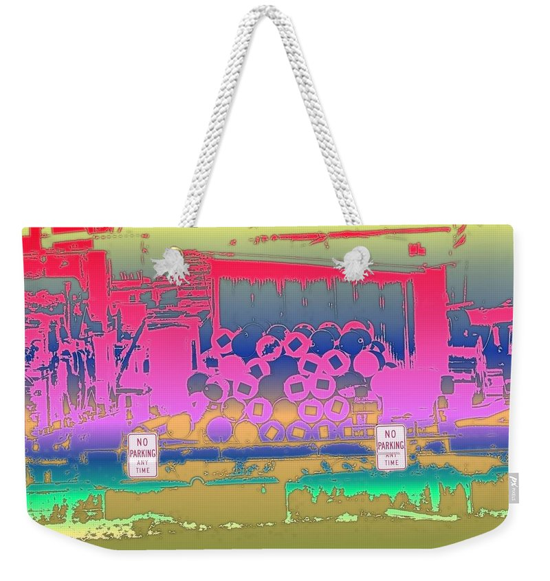 Seattle Weekender Tote Bag featuring the photograph No Parking Anytime by Tim Allen