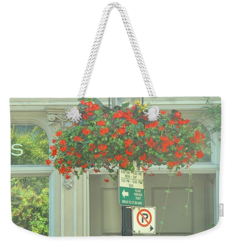 Weekender Tote Bag featuring the photograph No Parking by Ian MacDonald