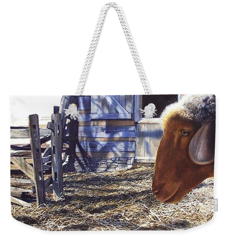 Farm Weekender Tote Bag featuring the painting No Place Like Home by Denny Bond