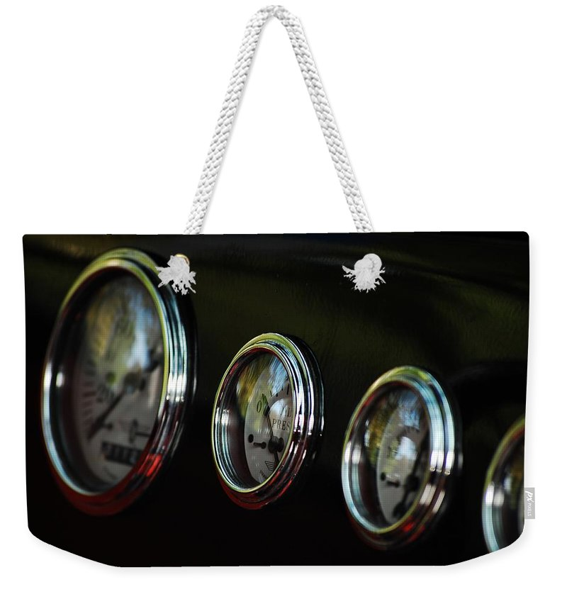Guages Weekender Tote Bag featuring the photograph No Pressure by Robert Meanor