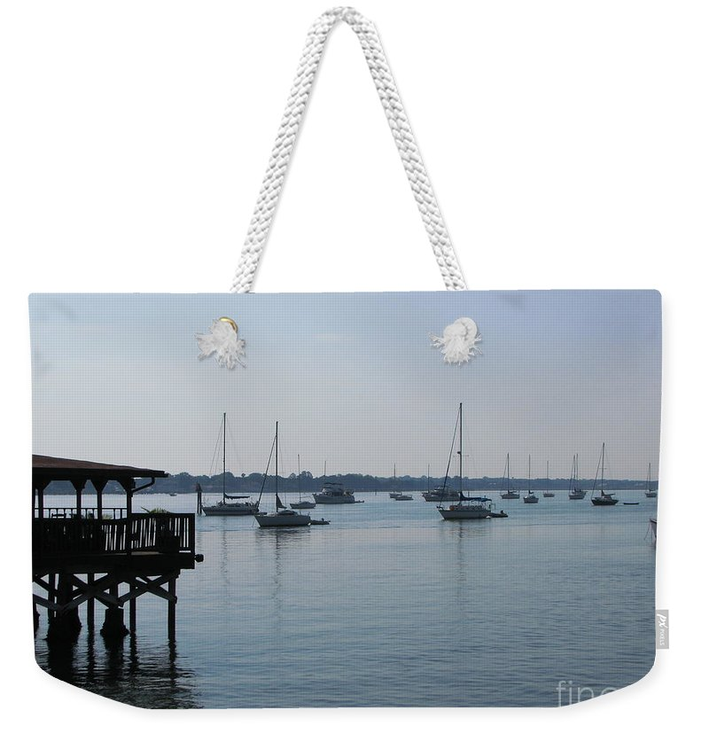 Art For The Wall...patzer Photography Weekender Tote Bag featuring the photograph No Wind by Greg Patzer