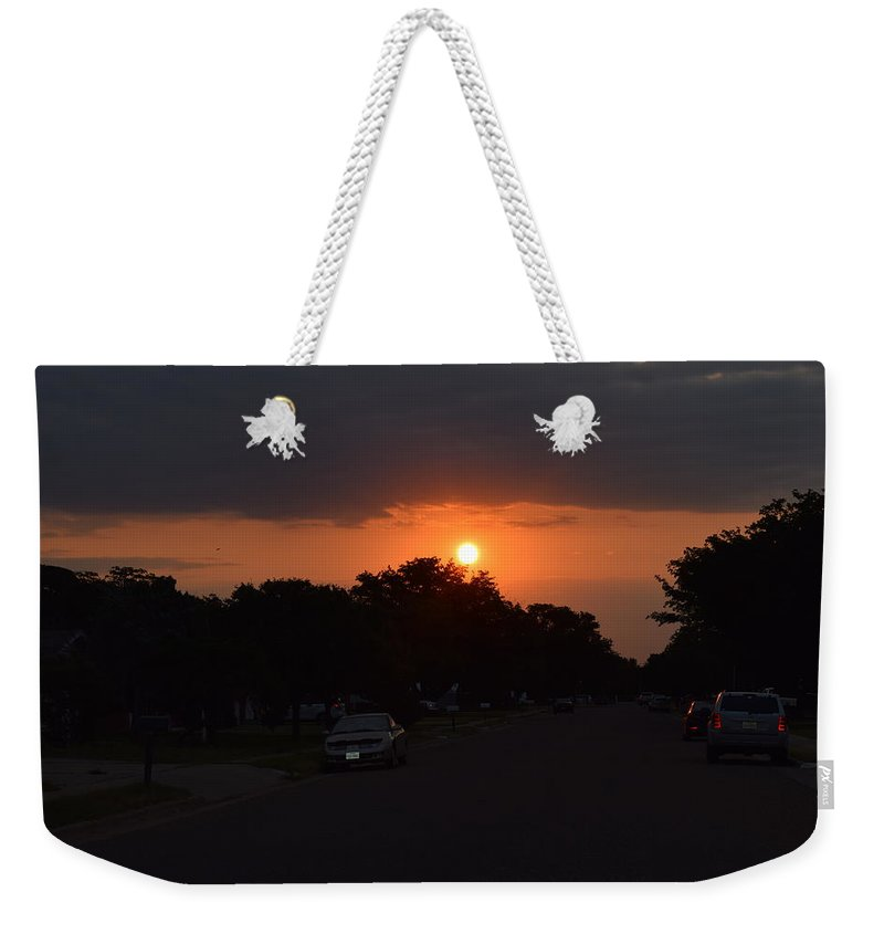 Sun Rise Weekender Tote Bag featuring the photograph No Words by Charla Harrison