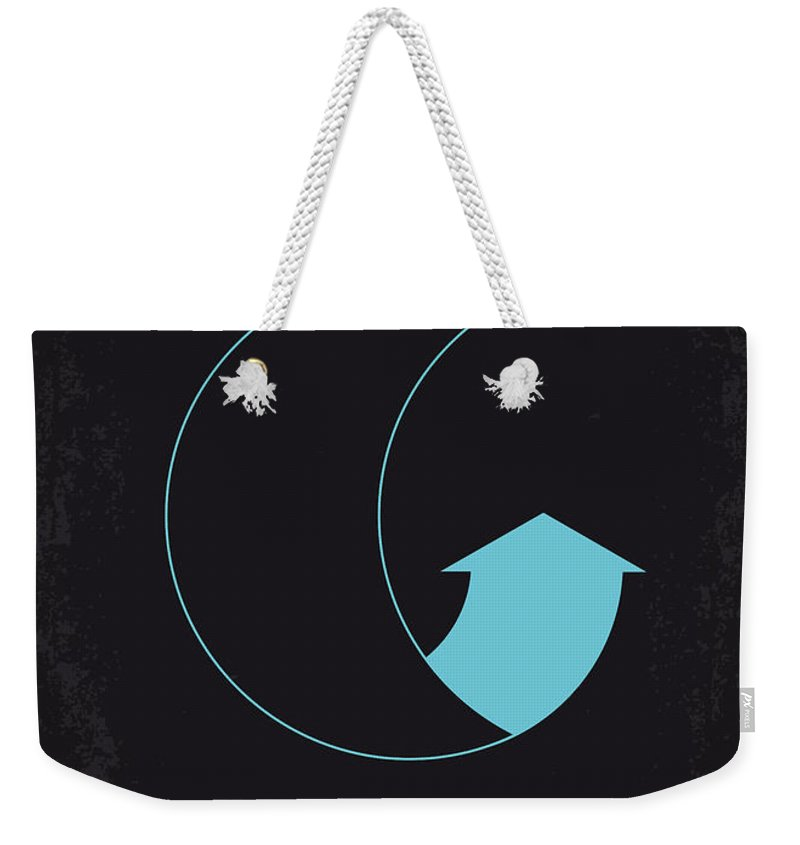 Moon Weekender Tote Bag featuring the digital art No053 My Moon 2009 Minimal Movie Poster by Chungkong Art