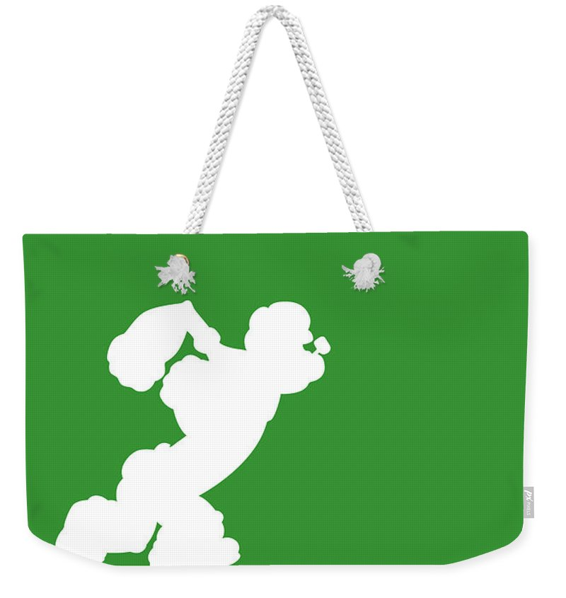 Looney Weekender Tote Bag featuring the digital art No07 My Minimal Color Code poster Popeye by Chungkong Art