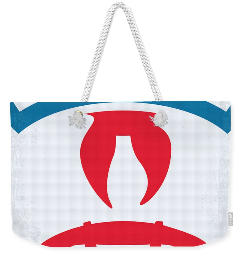 Ghostbusters Weekender Tote Bag featuring the digital art No104 My Ghostbusters Minimal Movie Poster by Chungkong Art