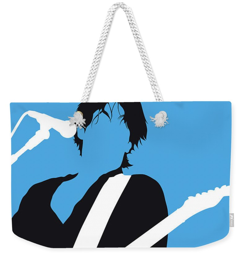 Jeff Weekender Tote Bag featuring the digital art No129 My Jeff Buckley Minimal Music Poster by Chungkong Art