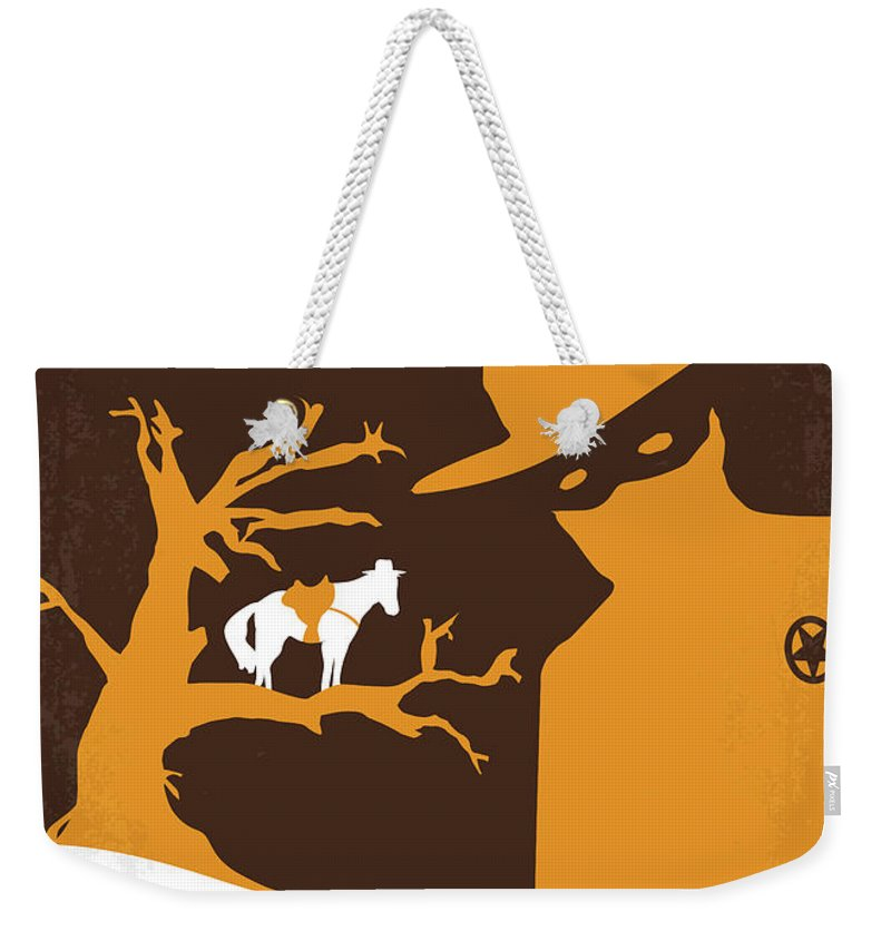 Lone Weekender Tote Bag featuring the digital art No202 My The Lone Ranger Minimal Movie Poster by Chungkong Art