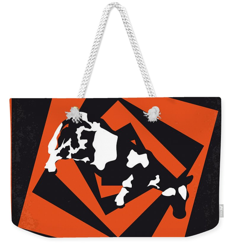 Twister Weekender Tote Bag featuring the digital art No560 My Twister Minimal Movie Poster by Chungkong Art