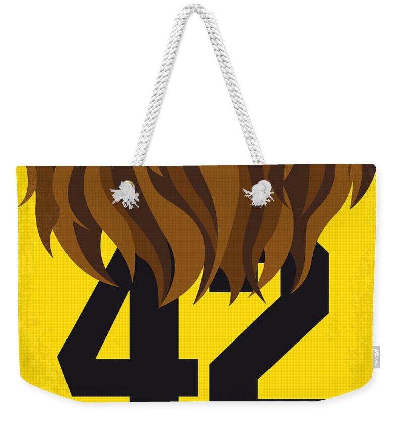 Teen Weekender Tote Bag featuring the digital art No607 My Teen Wolf Minimal Movie Poster by Chungkong Art
