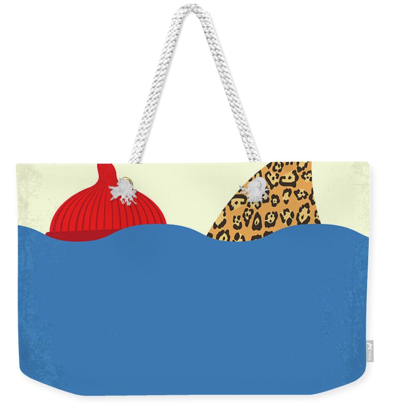 The Weekender Tote Bag featuring the digital art No774 My The Life Aquatic With Steve Zissou Minimal Movie Poster by Chungkong Art