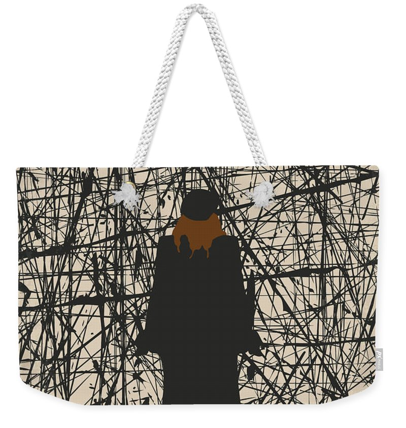 Mona Weekender Tote Bag featuring the digital art No914 My Mona Lisa Smile Minimal Movie Poster by Chungkong Art