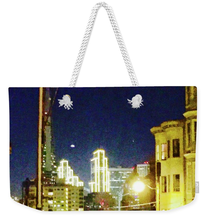 Electric Weekender Tote Bag featuring the photograph Nob Hill Electric by Cherylene Henderson