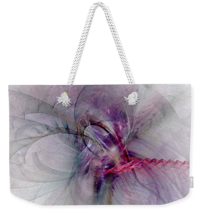 Spiritual Weekender Tote Bag featuring the digital art Nobility Of Spirit - Fractal Art by NirvanaBlues