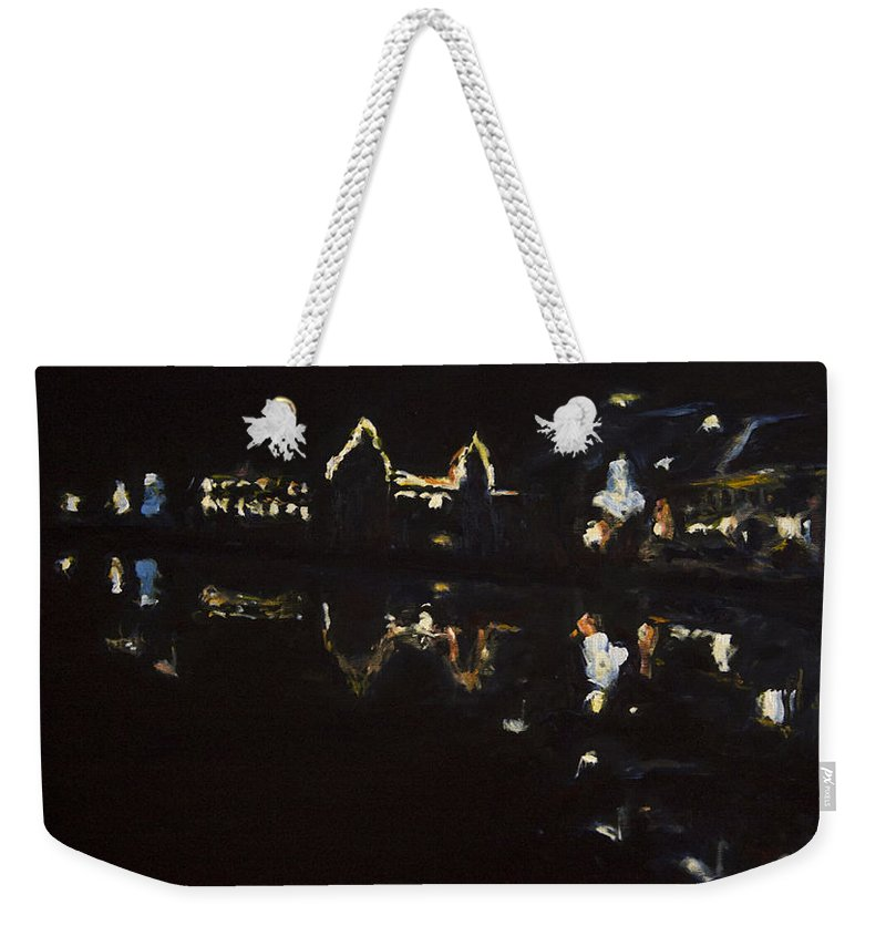 Landscape Weekender Tote Bag featuring the painting Nocni Vyhled S Labutemi by Pablo de Choros