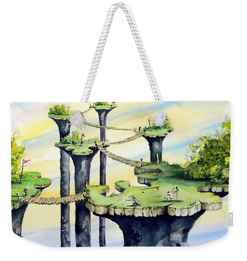 Golf Weekender Tote Bag featuring the painting Nod Country Club by Sam Sidders