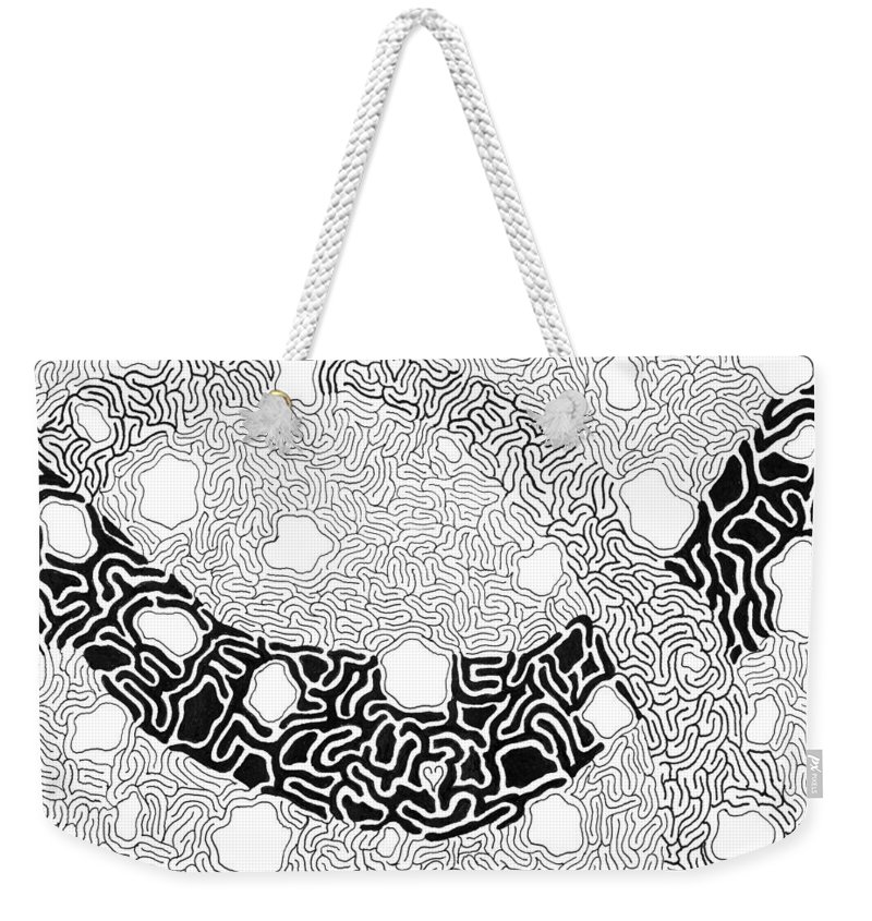 Abstract Weekender Tote Bag featuring the drawing Noetic by Steven Natanson