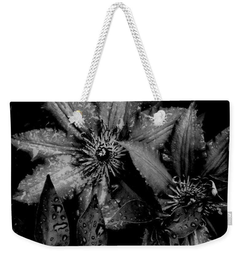 Floral Weekender Tote Bag featuring the photograph Noire Et Gris by Andrea Lynch