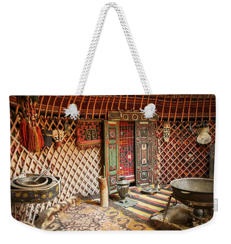 Yurt Weekender Tote Bag featuring the photograph Nomad Yurt by Dan Bijan