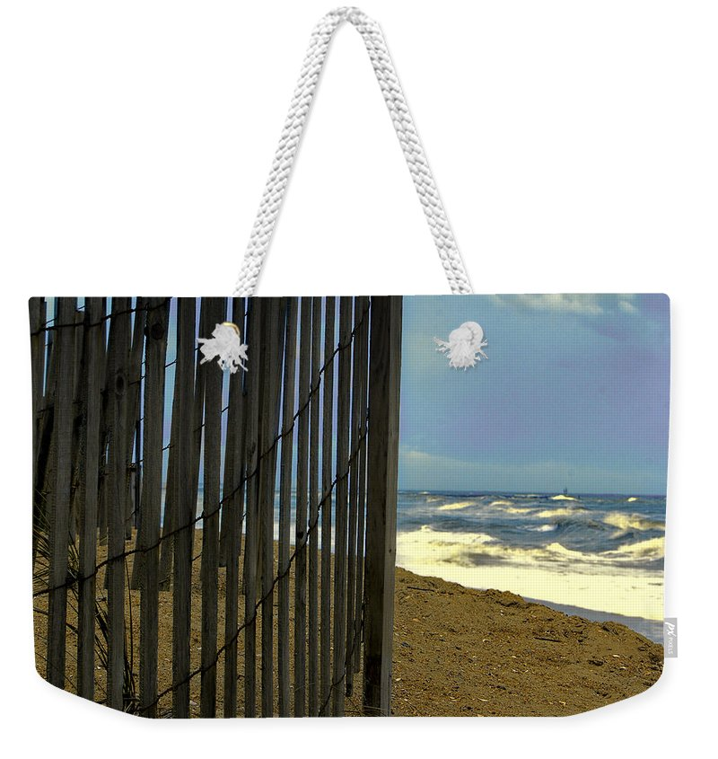 Atlantic Weekender Tote Bag featuring the photograph N'or Easter by Pete Federico