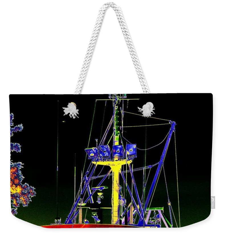 Seattle Weekender Tote Bag featuring the digital art Nordic Fury by Tim Allen