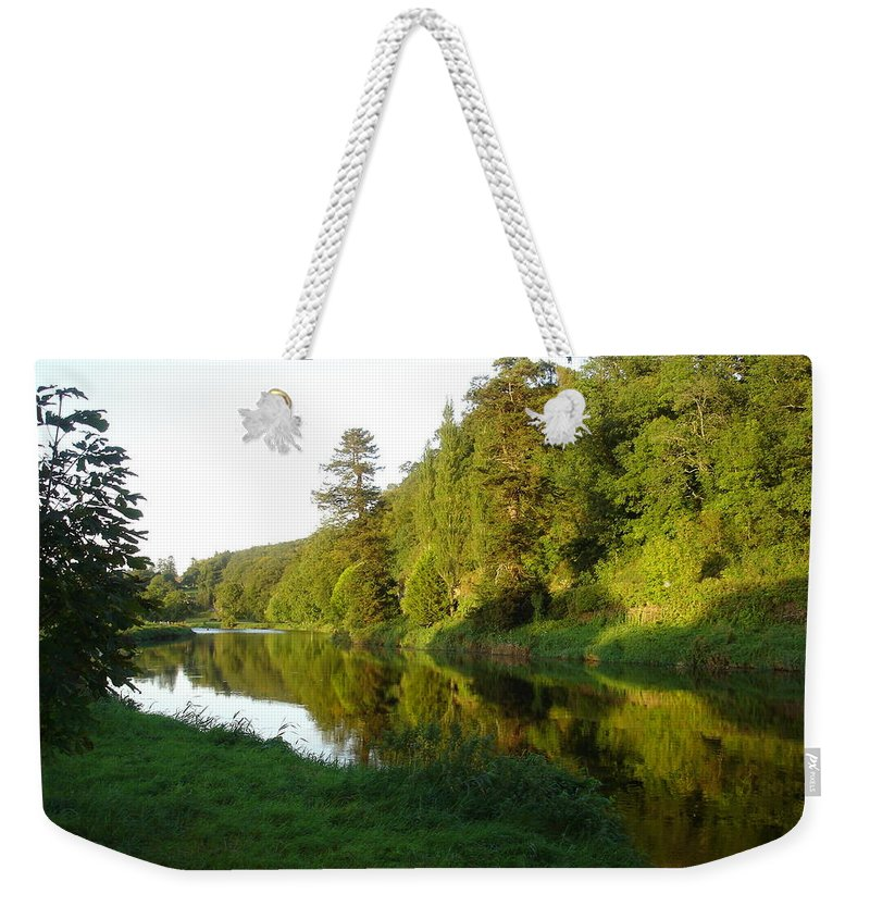 Nore Weekender Tote Bag featuring the photograph Nore Reflections I by Kelly Mezzapelle
