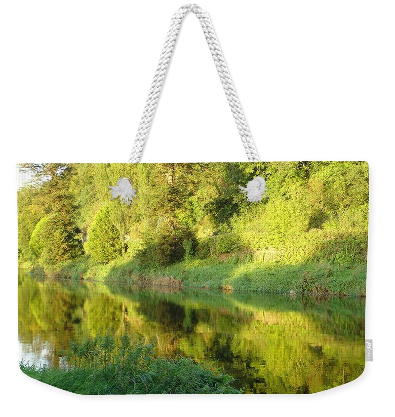 Nore Weekender Tote Bag featuring the photograph Nore Reflections II by Kelly Mezzapelle