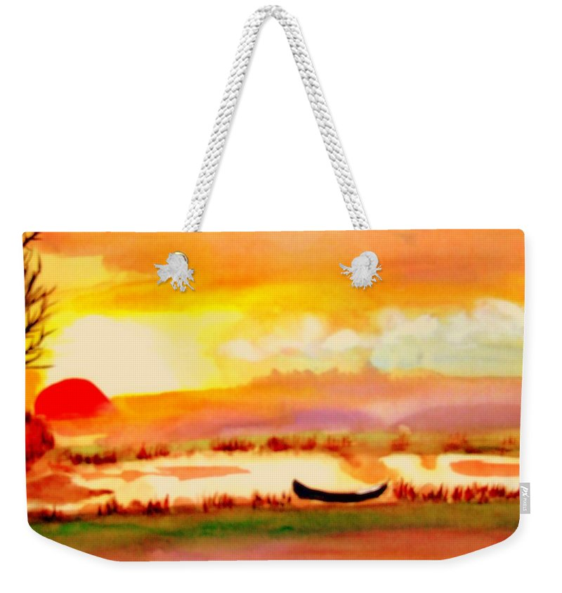 France Weekender Tote Bag featuring the painting Normandy Fields by Rusty Gladdish