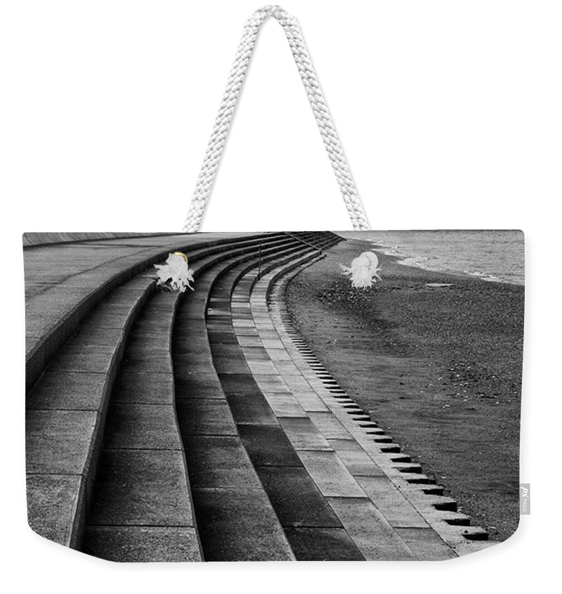 Monochromephotography Weekender Tote Bag featuring the photograph North Beach, Heacham, Norfolk, England by John Edwards