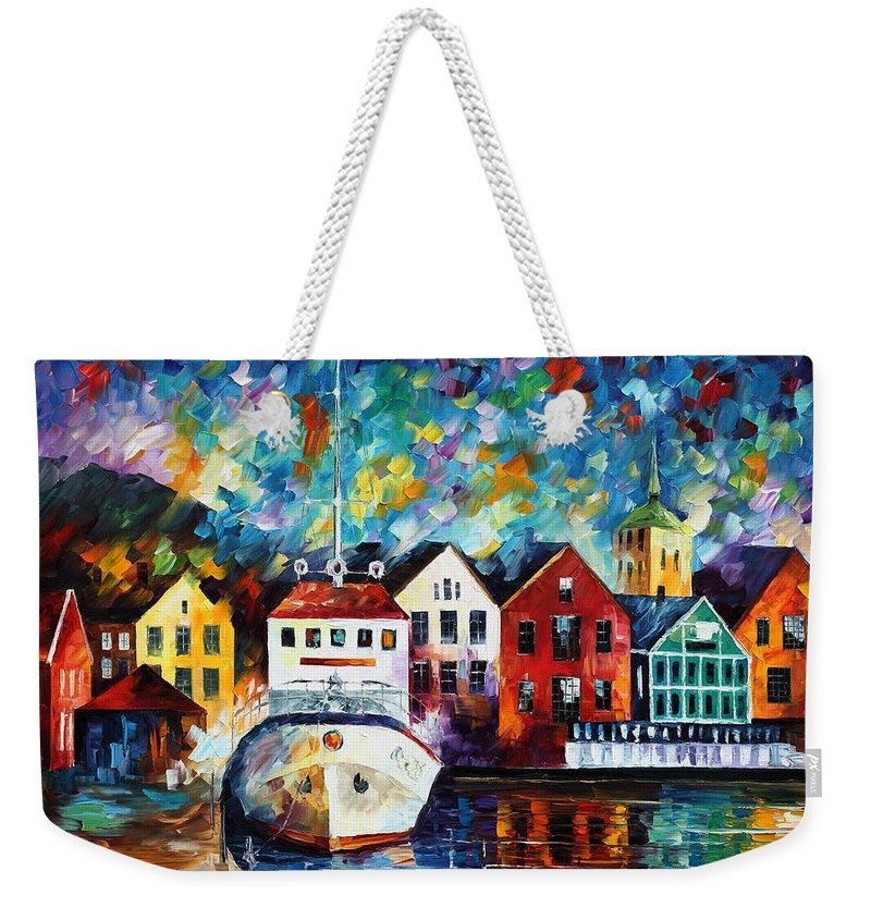 Afremov Weekender Tote Bag featuring the painting North Mood by Leonid Afremov