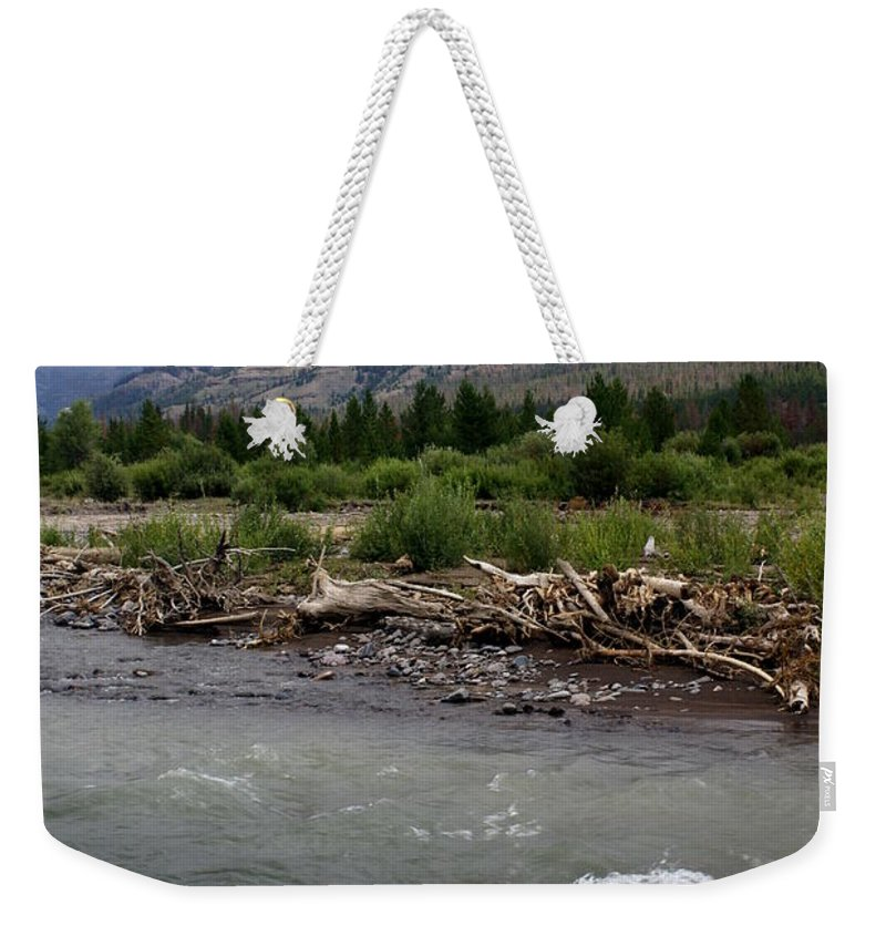 Rivers Weekender Tote Bag featuring the photograph North Of Dubois Wy by Marty Koch