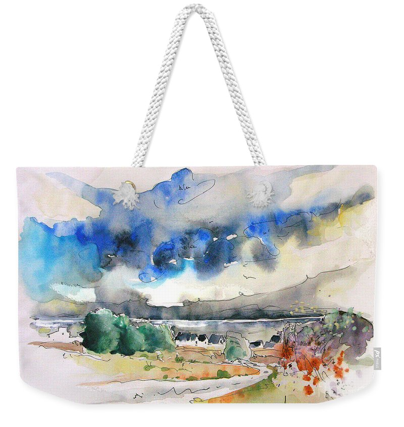 France Weekender Tote Bag featuring the painting North Of France 01 - The Coast by Miki De Goodaboom