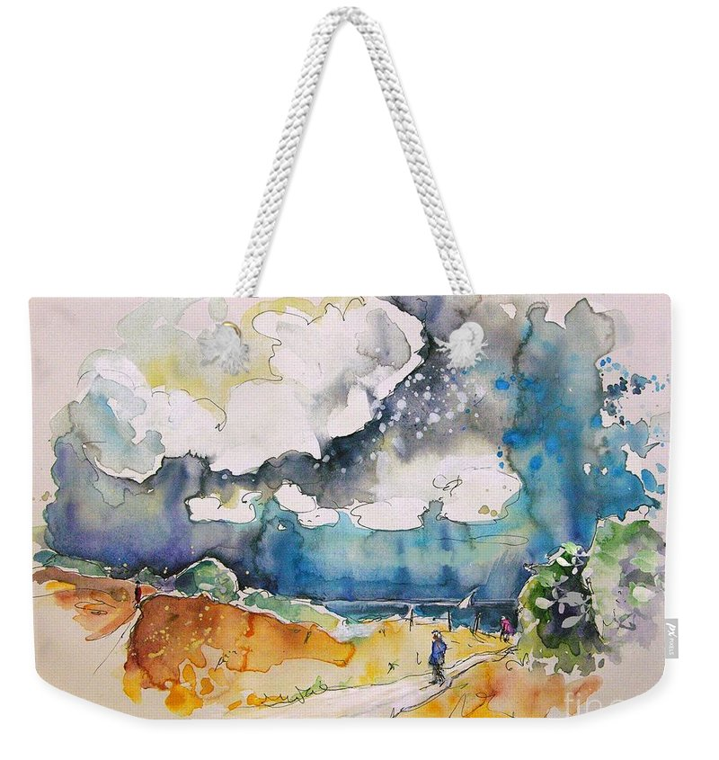 France Weekender Tote Bag featuring the painting North Of France 04 by Miki De Goodaboom