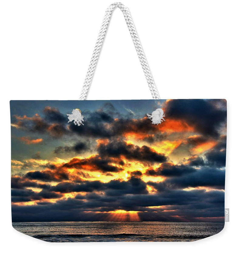 North Shore Sunset Weekender Tote Bag featuring the photograph North Shore Sunset by Richard Cheski