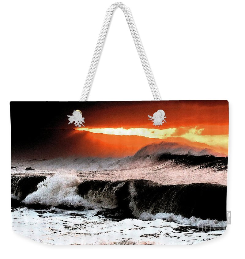 North Shore Weekender Tote Bag featuring the digital art North Shore by Tommy Anderson